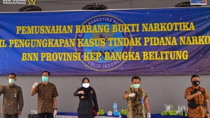 Bea Cukai Pangkalpinang Musnahkan Sabu Hasil Penindakan Bersama BNN dan Kepolisian