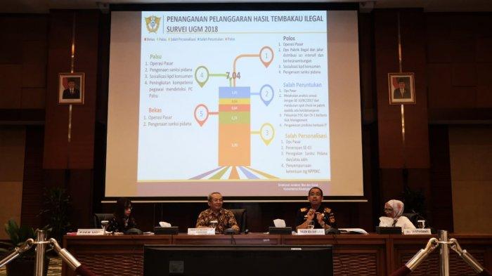 Survei Rokok Ilegal Keluaran UGM Tunjukkan Peredaran Rokok Ilegal di Tahun 2018 Turun Menjadi 7,04%