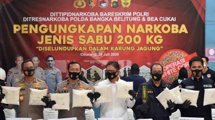 """White Corn 2020"", Bea Cukai dan Bareskrim Polri Ungkap Peredaran Gelap 200 kg Narkoba"