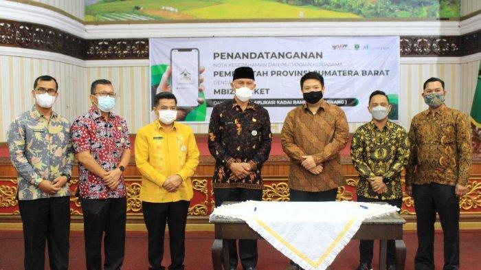 Dorong Pembelanjaan Pemerintah Lewat UMKM, Mbizmarket dan Pemprov Sumatra Barat Luncurkan Kadai Rami
