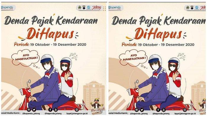 Denda Pajak Kendaraan di Jateng Dihapus, Dimulai 19 Oktober 2020, Simak Cara Bayar Pajak via Online