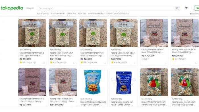 Beberapa produk ritel Comextra Majora yang dijual di Tokopedia
