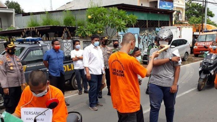 Rekonstruksi 12 Adegan, Tiga Anggota Begal Akatsuki2018JadiEksekutor Pembacokan di Bekasi