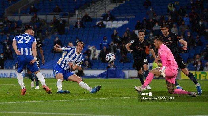 HASIL Brighton vs Manchester City Liga Inggris: Sempat Unggul 2 Gol, 10 Pemain Citizens Menyerah 3-2