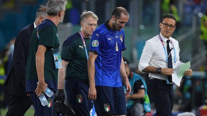 Italia Lolos 16 Besar Euro 2020, Cedera Chiellini Jadi Harga yang Harus Dibayar Gli Azzurri