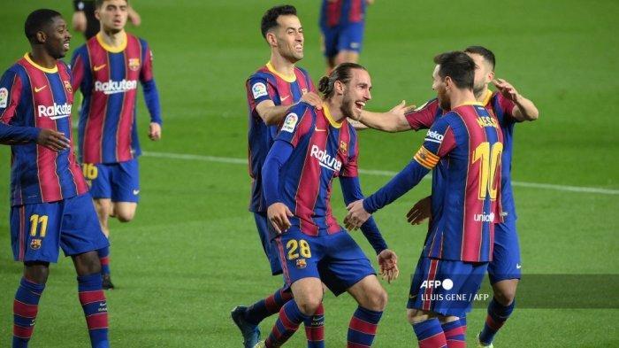 HASIL LIGA SPANYOL: Barcelona Geser Real Madrid Dekati Atletico, Messi Ikuti Pencapaian Griezmann