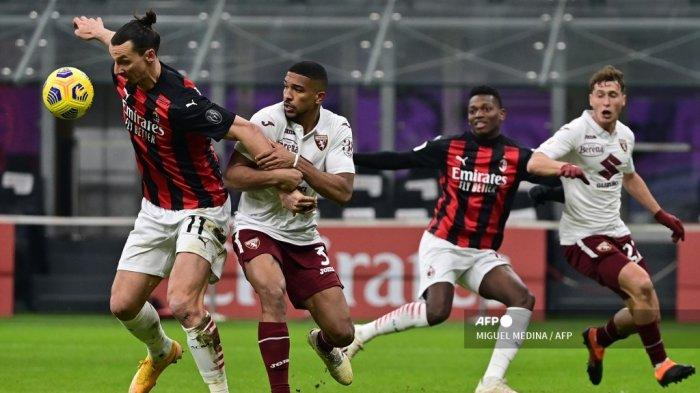 HASIL AC Milan vs Torino Coppa Italia, Skor Kaca Mata Hiasi Babak Pertama