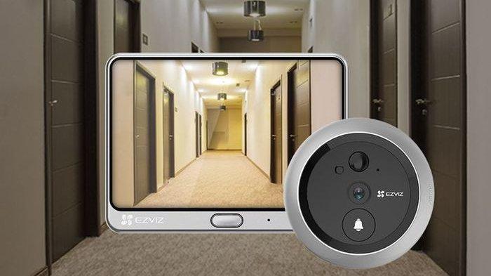 Bel rumah pintar atau EZVIZ DP1C Wire-Free Smart Door Viewe