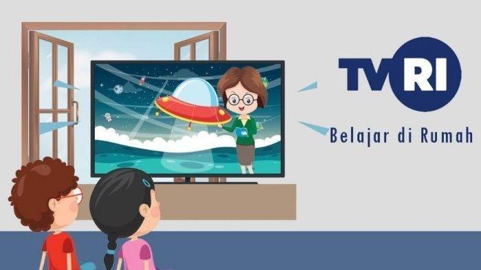 Program Belajar dari Rumah di TVRI.