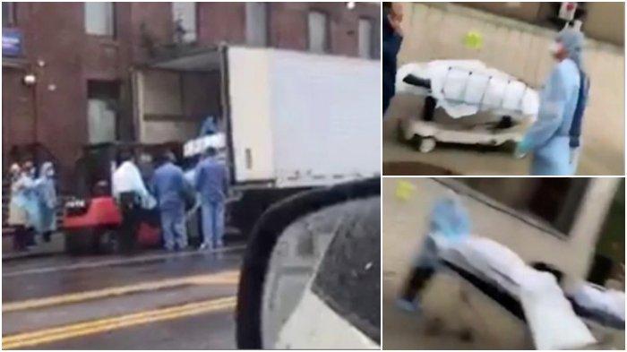 Belasan Mayat Dimasukkan ke Truk Berpendingin di NYC