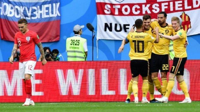 Belgia vs Inggris: Gol Thomas Meunier dan Eden Hazard Bawa Belgia Rebut Tempat Ketiga