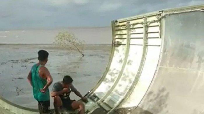Serpihan Roket Milik China Ditemukan di Teluk Ranggau Kalimantan Tengah