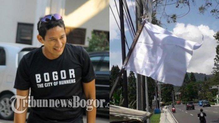 Setelah Malioboro dan Bandung Selatan, Kini Giliran Warga Puncak Bogor yang Kibarkan Bendera Putih