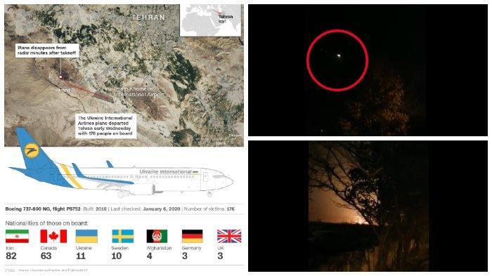 Beredar Video Detik-detik Jatuhnya Pesawat yang Tewaskan 176 Orang di Iran, Pesawat Sempat Ingin Putar Balik