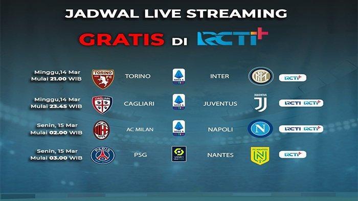 JADWAL Siaran Langsung Bola Malam Ini, Live RCTI, Mola TV, Bein Sports -  Ada AC Milan, Inter & MU