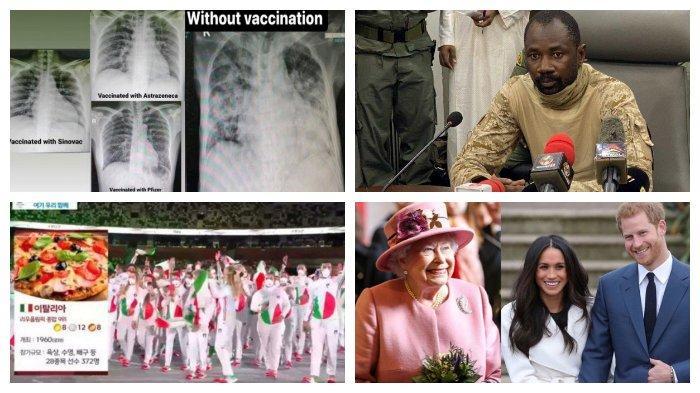 POPULER Internasional: Rontgen Paru Pasien yang Divaksin dan Tidak | Sikap Ratu kepada Harry-Meghan