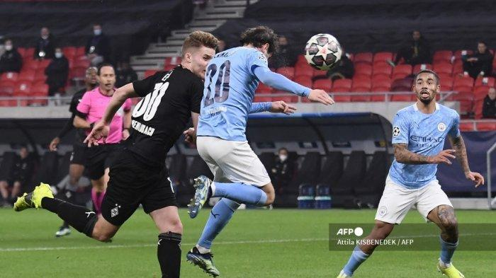 HASIL Babak I Monchengladbach vs Manchester City Liga Champions, Gol Bernardo Bawa Citizens Unggul