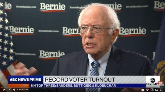 Bernie Sanders, Sosialis Demokratik yang Puncaki Pemilihan Utama di New Hampshire