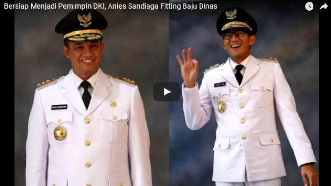 Detik-detik Pelantikan Anies-Sandi, Netizen: Hajar Reklamasi Pak