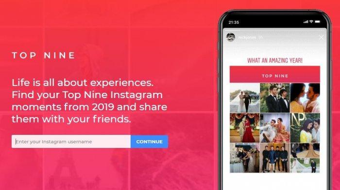 Cara Mudah Membuat 'Best Nine' Tahunan di Instagram (tangkap layar topnine.co)