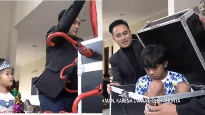 Betrand Peto 'Dikurung' Denny Darko dalam Koper Kecil, Thalia Hiteris Ketakutan: Onyo Gak Apa-apa?