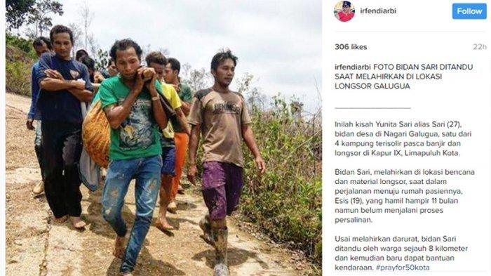Kisah Bidan Sari Melahirkan di Lokasi Longsor, Dalam Perjalanan Menuju Rumah Pasiennya