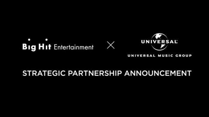 Big Hit Entertainment dan Universal Music Group Jalin Kerja Sama, akan Mendebutkan Boy Group Global