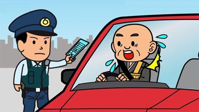 Para Biksu Protes Polisi Jepang yang Menilang Temannya Gara-gara Menyetir dengan Pakaian Kimono