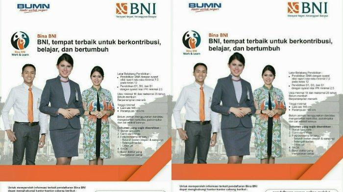 Bina Bni Buka Lowongan Kerja Untuk Wilayah Yogyakarta Dan Sekitarnya Pendidikan Minimal Sma S1 Tribunnews Com Mobile