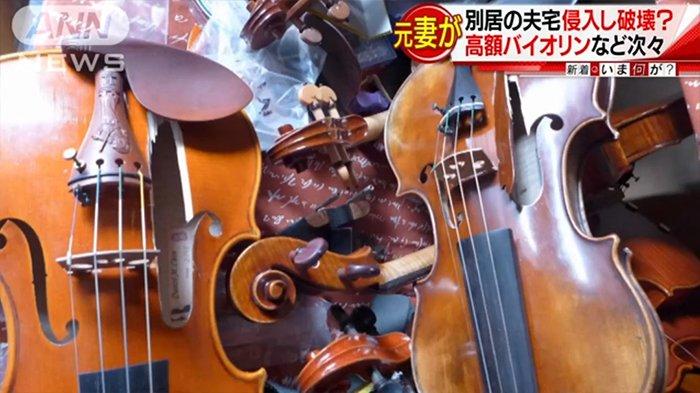 Midori Kawamiya Dituntut Suaminya 105,9 Juta yen Gara-gara Merusak 54 Biola Miliknya
