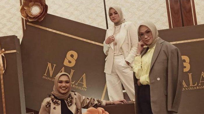 Olla Ramlan menggarap bisnis busana muslim berlabel Brand Nala Searves bersama dua orang sahabatnya yakni Linda dan Diana Safitri atau dikenal dengan Diana Dsaks