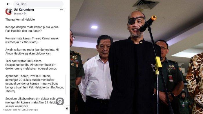 VIRAL Kabar BJ Habibie Donorkan Matanya untuk Thareq Kemal Habibie, Keluarga Beri Penjelasan