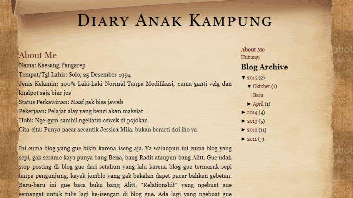 blog kaesang pangarep