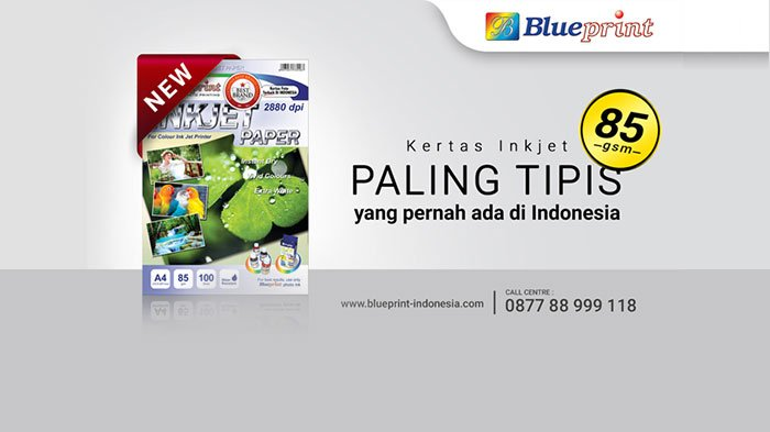 Blueprint Launching Kertas Inkjet Paling Tipis di Indonesia