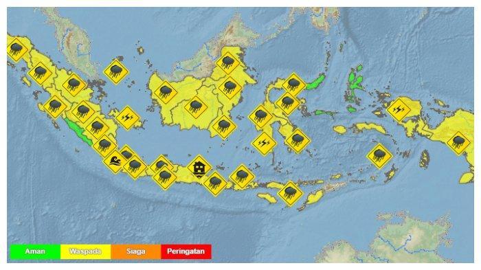 Info BMKG Prakiraan Cuaca 33 Kota, Sabtu 1 Mei: Jakarta Cerah Berawan, Jambi Berkabut