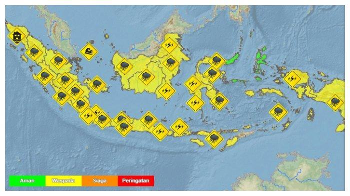 Prakiraan Cuaca 33 Kota Besar Indonesia Besok, Senin 28 Desember 2020: Bandung Hujan, Kupang Cerah