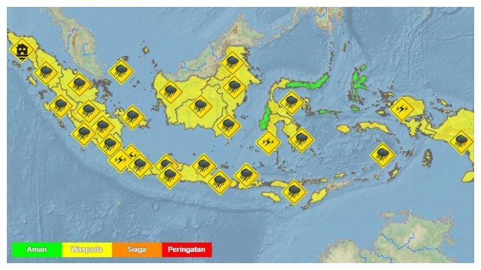 Prakiraan Cuaca 33 Kota Besar di Indonesia Besok, Jumat 8 Januari 2021: Aceh dan Denpasar Hujan