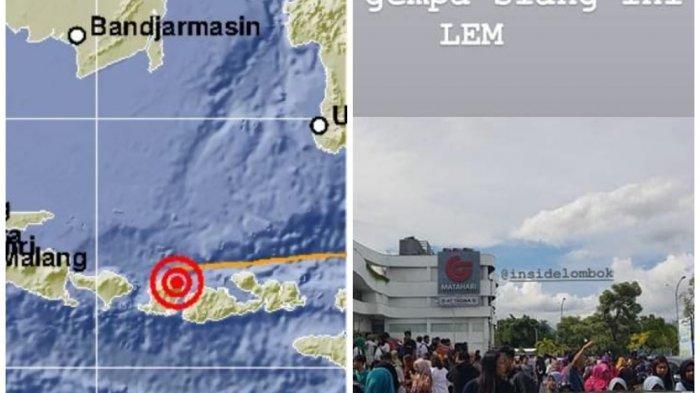 Dua Gempa Landa Lombok - BMKG Catat Guncangan Hingga Denpasar Bali, Masyarakat Panik Berhamburan