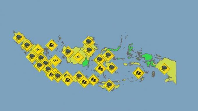BMKG Peringatan Dini Selasa 23 Juni 2020: Tinggi Gelombang Lebih dari 2 Meter di Selat Lombok