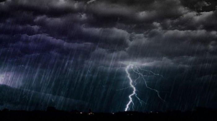 Ilustrasi Cuaca-BMKG: Peringatan Dini Cuaca Ekstrem Sabtu, 7 Maret 2020, 15 Wilayah Alami Hujan Petir & Angin.