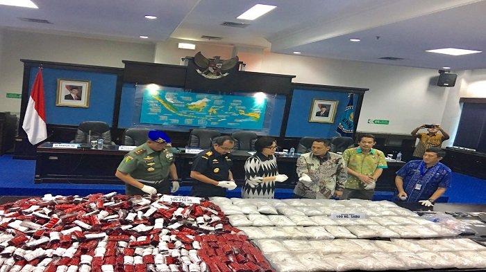 Bekuk Sindikat Narkotika Asal Taiwan, BNN Amankan 100 Kg Sabu dan 300 Ribu Butir H5