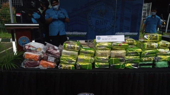Ungkap 7 Kasus Sindikat Narkotika, BNN Musnahkan 84,58 Kg Sabu dan 115 Kg Ganja