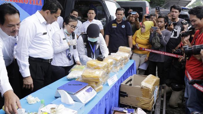 BNN Musnahkan Barang Bukti 32.710,50 Gram Sabu