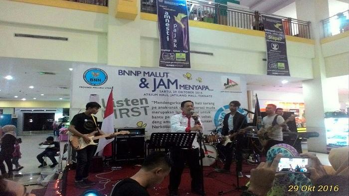 Undang Musisi dan Artis Lokal, BNNP Malut Sosialisasi Bahaya Narkoba