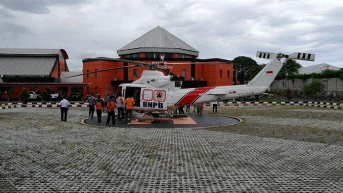 BNPB Kerahkan Dua Helikopter Distribusikan Bantuan untuk Pengungsi di Kecamatan Sumur Pandeglang