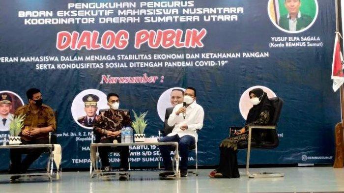 Hadiri Pengukuhan BEM Nusantara Sumut, Bobby Nasution Ajak Mahasiswa Aktif Bantu Penanganan Covid-19