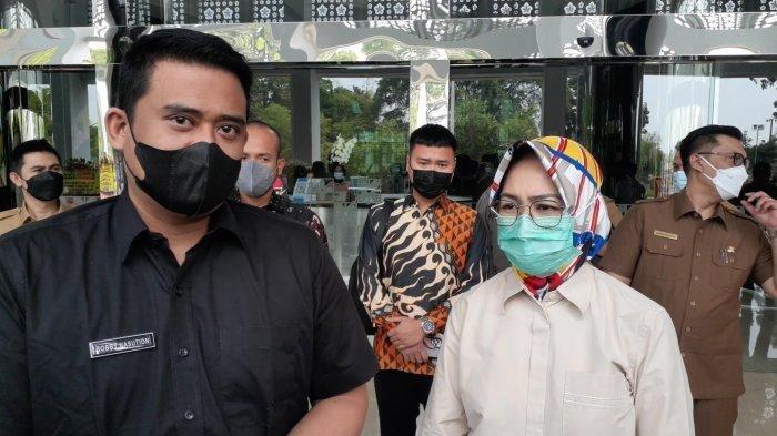 Wali Kota Medan, Bobby Nasution di Kantor Pemkot Tangsel, Jalan Maruga, Ciputat, Selasa (20/4/2021).