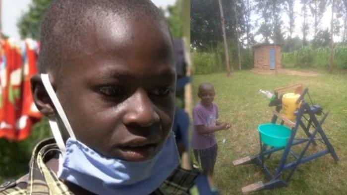Bocah 9 Tahun Ciptakan Mesin Cuci Tangan untuk Cegah Covid-19, Dapat Penghargaan Presiden