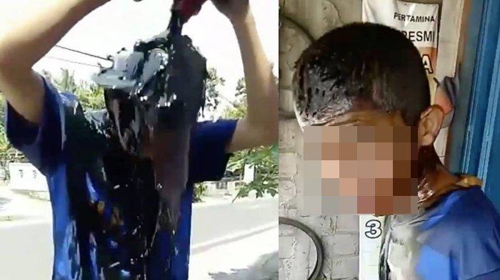 Bocah Berjersey Bola Sleman Dipaksa Gerujuk Kepala dengan Oli Bekas, Netter Miris saat Tahu Sebabnya
