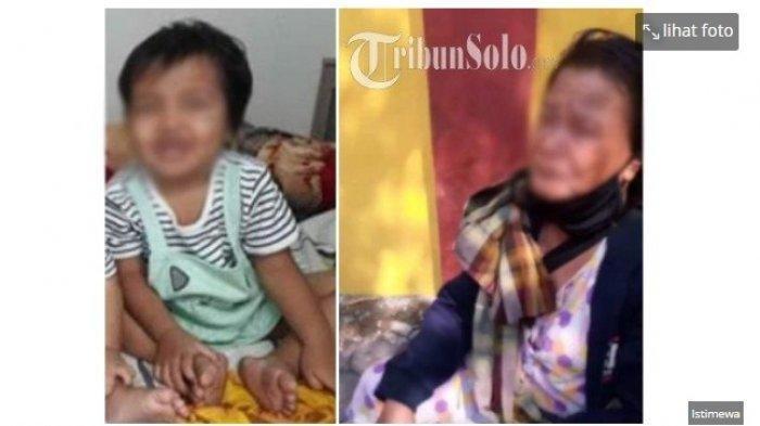 Bocah 2 Tahun Diduga Diculik Pengemis, Saat Ditemukan di Alun-alun Sragen Kondisinya Memprihatinkan